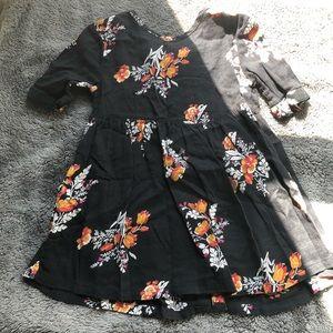 Old Navy Girls Black Lined Gauze Dress - Size 2T